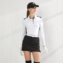 新式Blu高尔夫女装ds服装上衣长袖女士秋冬韩款运动衣golf修身