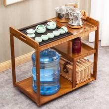茶水台lu地边几茶柜ei一体移动茶台家用(小)茶车休闲茶桌功夫茶