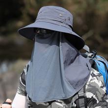 帽子男lu夏天户外钓ei肩功能渔夫帽防晒遮阳帽太阳帽登山旅游