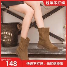 磨砂中lv靴女冬季加93宽松口靴子韩款雪地2020年新式短靴