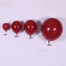 10寸lv2寸18寸ai石榴红气球浪漫婚礼婚房装饰布置用品
