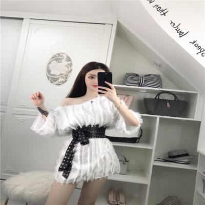 酒吧性lv夜店女装新un肩连衣裙显瘦夜场裙气质女神范衣服夏季