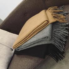 [lvkua]韩版纯色羊毛围巾女士冬季