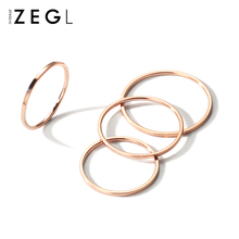 ZENlwLIU韩国dc18K玫瑰金指环ins关节食指戒时尚个性尾戒