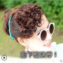 假刘海lw 蓬松(小)卷lq发片女斜刘海隐形无痕复古流海