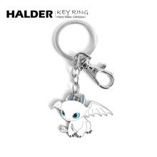 HALlwER 白色rg属 黑色龙情侣男女(小)挂件情的节礼物项链