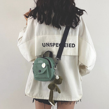 少女(小)lx包女包新式pf1潮韩款百搭原宿学生单肩斜挎包时尚帆布包