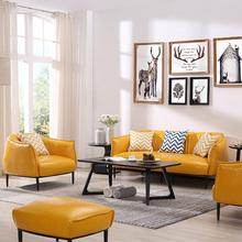 单的皮lx发椅子北欧kc卧室简约懒的蜗牛椅真皮客厅休闲老虎椅