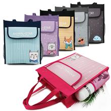 (小)学生ly习袋宝宝补lz习袋作业袋美术袋A3防水8K手提袋拎书袋