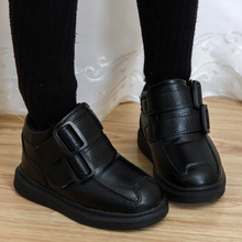 宝宝鞋ly童女童皮鞋da秋冬2020新式中大童加绒宝宝鞋黑色棉鞋
