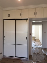 上海厂ly全屋定制定da宝实木生态板衣柜整体衣帽间推拉门壁柜