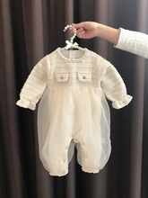 女婴儿lz体衣服女宝mf装可爱哈衣新生儿1岁3个月套装公主春装