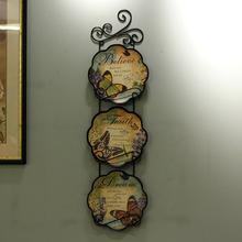 欧款田园手绘装饰挂盘lz7瓷挂盘 mf蝶10寸 单个摆盘装饰盘
