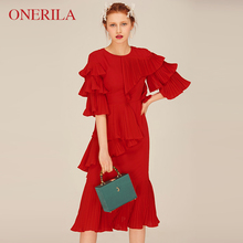 红色结lz订婚敬酒服tq媛(小)礼服裙子女平时可穿气质春装连衣裙