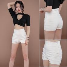 女夏2ma19新式韩yc热裤紧身黑色高腰跳舞瑜伽运动短裤