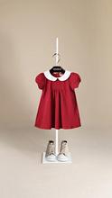 周岁宝ma衣服女童公yc领洋气连衣裙婴儿过年红裙夏装纯棉秋裙