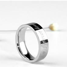 爱心情ma心电图戒指oo钛钢指环戒子饰品个性男女霸气戒指饰品