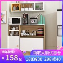 简约现ma(小)户型可移oo餐桌边柜组合碗柜微波炉柜简易吃饭桌子