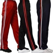 蓝色两ma杠校服裤子ll白细条校裤黑色白条运动长裤男女式校服