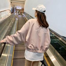棒球服ma2021春pi(小)个子休闲夹克女士早春飞行员短式外套薄式