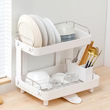 日本装ma筷收纳盒放hu房家用碗盆碗碟置物架塑料碗柜