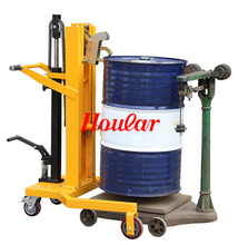 手动油ma搬运车脚踏co车铁桶塑料桶两用鹰嘴手推车油桶装卸车
