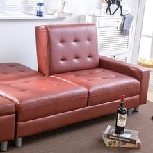 客厅单ma可折叠沙发to组合简约现代(小)户型轻奢沙发。