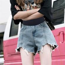 孕妇裤ma牛仔短裤夏ng薄式夏季时尚潮妈外穿宽松打底裤春秋式