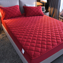 水晶绒ma棉床笠单件ke加厚保暖床罩全包防滑席梦思床垫保护套
