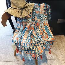 百变围ma女配裙夏季xu巾几何三角沙滩巾遮阳围脖防晒女披肩