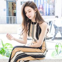 阔腿连ma裤套装20iu装新式韩款时尚气质时髦显瘦雪纺连体衣女装
