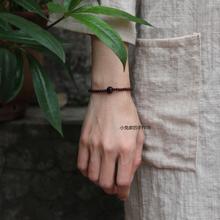 (小)叶紫ma莲花雕刻男iu文艺复古佛珠手串秀气手链本命年手饰品
