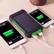 太阳能ma电宝100kf安户外三防手电筒双USB多功能手机充电器