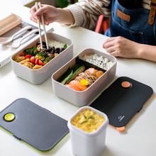 日式便ma盒带饭饭盒kf波炉专用上班族分隔型餐盒套装分格