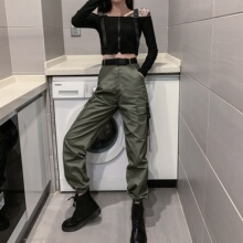 工装裤ma上衣服朋克et装套装中性超酷暗黑系酷女孩穿搭日系潮