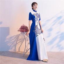正品新ma大合唱团演as长裙主持的宴会晚礼服古典古筝比赛表演