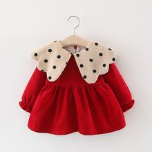女童秋ma长袖秋冬装se公主裙0-1-2岁3女宝宝洋气婴儿连衣裙子
