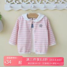 0一1ma3岁婴儿(小)ag童女宝宝秋装外套韩款开衫幼儿春秋洋气衣服