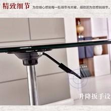 高茶几ma加高80升dr桌钢化玻璃圆形洽谈桌展会接待桌户外活动