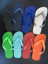 哈瓦那ma字拖鞋 正ce纯色男式 情侣沙滩鞋