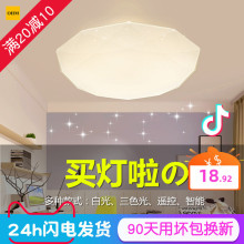 钻石星ma吸顶灯LEio变色客厅卧室灯网红抖音同式智能上门安装
