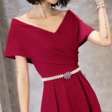 大气敬ma服新娘20ob式长式现代宴会气质结婚晚礼服裙女平时可穿