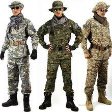 防刮锦ma军装野战军ga漠丛林CP废墟ACU迷彩服战术作训服户外