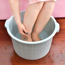 泡脚桶ma按摩高深加ud洗脚盆家用塑料过(小)腿足浴桶浴盆洗脚桶