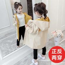 女童春ma韩款中长式hi套中大童宝宝洋气女孩大衣2020春季新式