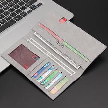 男士钱ma潮牌长式2kp新式学生日系简约皮夹卡包网红超薄时尚复古