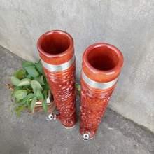 云南水ma筒实木大号yc烟桶雕刻烟铜木质锅【竹子价格】