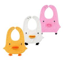 minmazone男ti新生儿毛巾料可爱动物造型围嘴围兜0-2岁