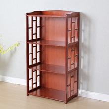 楠竹书ma置物架落地nd书柜简易宝宝桌上收纳柜家用组合书架子