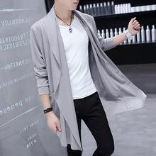 男披风ma季薄式开衫pp主流中长式风衣斗篷夜店发型师春装外套
